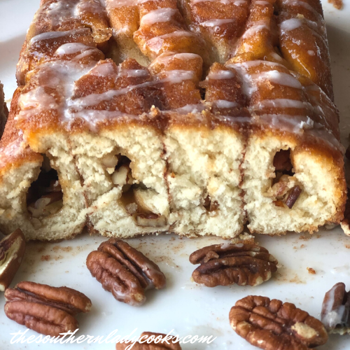 Cinnamon Sugar Pecan Loaf The Southern Lady Cooks