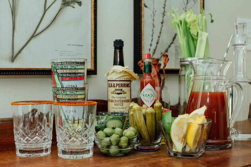 Bloody Mary Bar ingredients