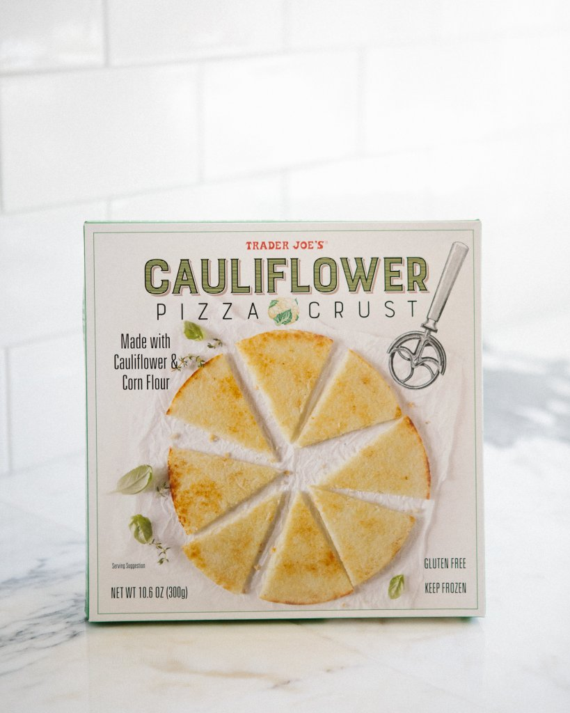 Healthy Pizza Recipe with Trader Joe\'s Cauliflower Crust
