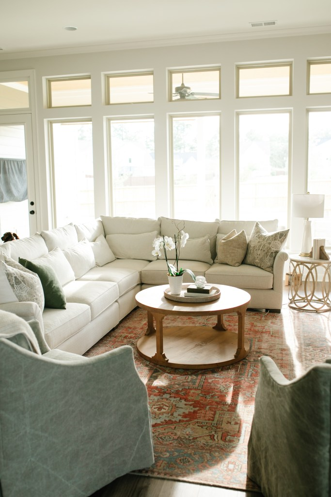large white sectional sofa living room