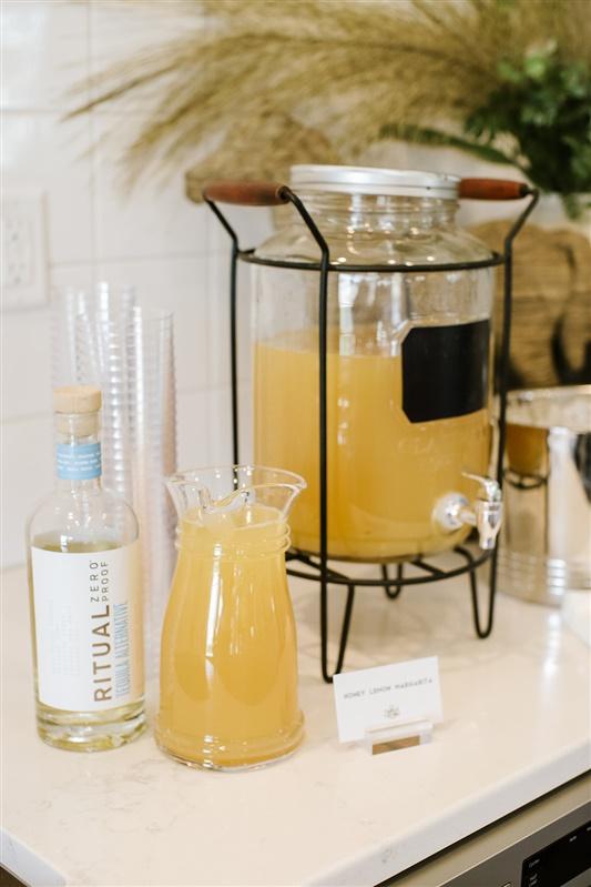 honey lemon margarita mocktail