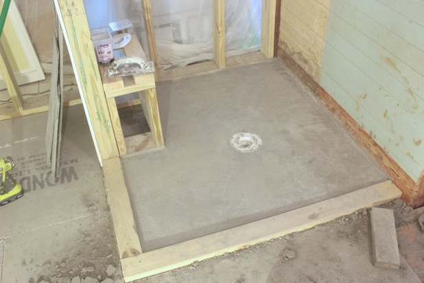 how to diy a shower pan the space between