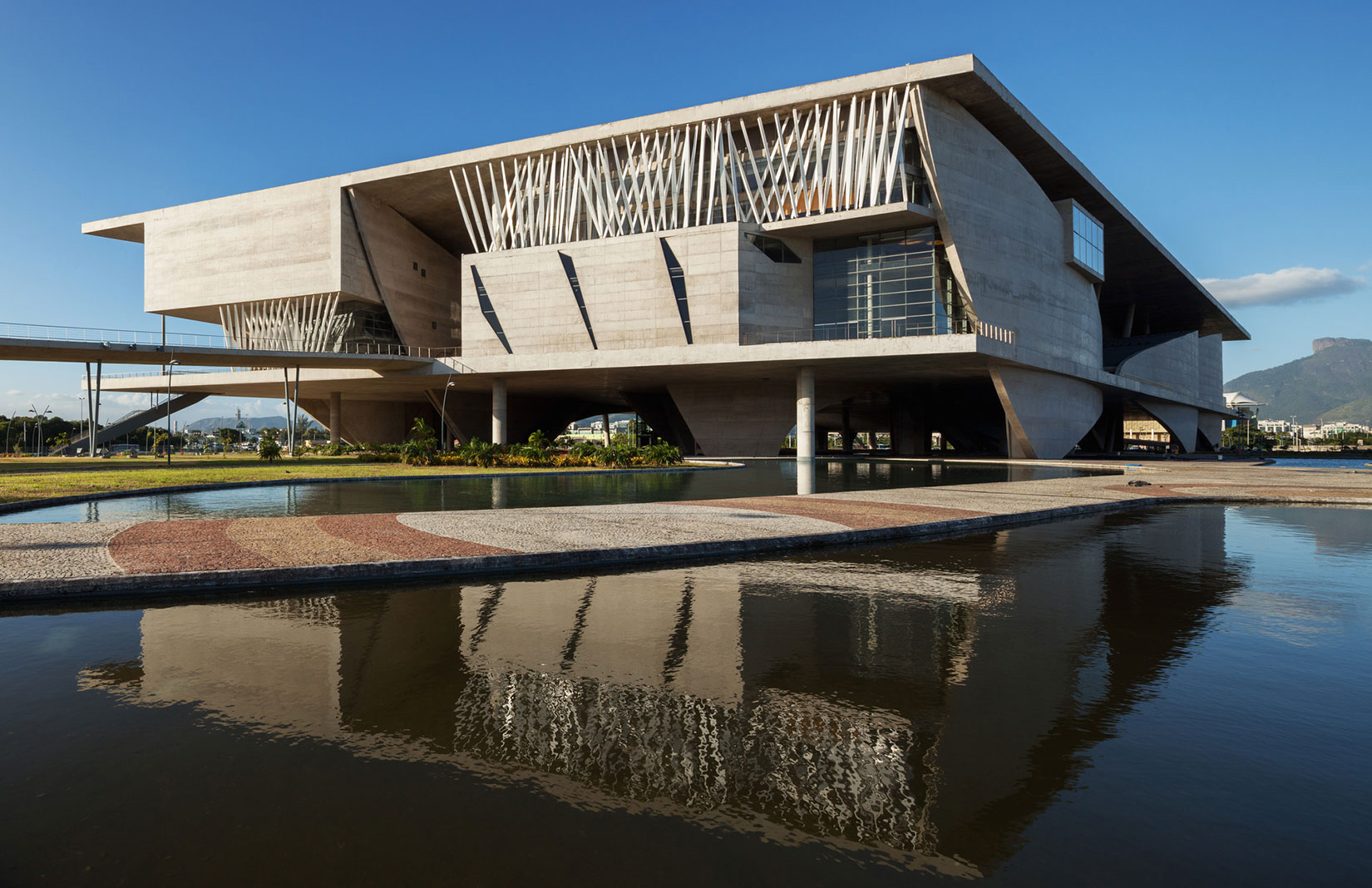 Japan house was set up base inside the Cidade das Artes, a 2013 concrete arts complex designed by French architect Christian de Portzamparc. Its national house offers a dose of Japanese culture – from traditional tea ceremonies to folk entertainment – as well as a preview of things to come in four years' time.