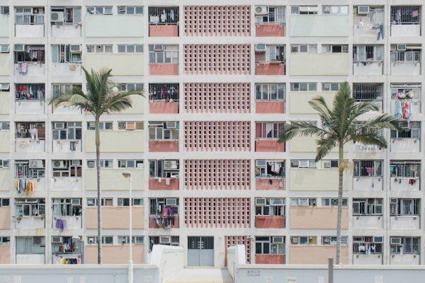 A pastel portrait of Hong Kong's architecture