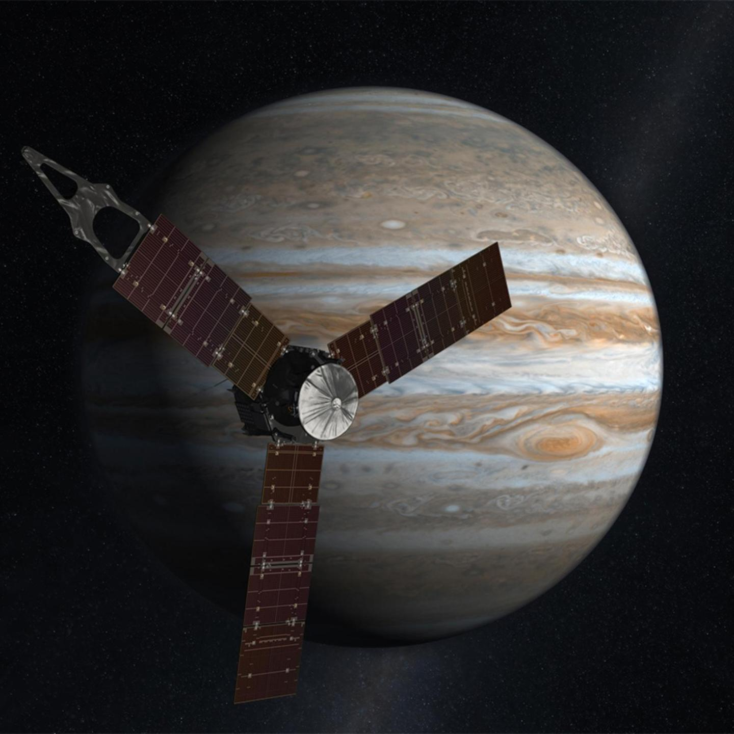Juno's Cinematic View of Jupiter Orbit Insertion