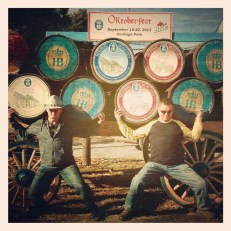 The Brothers Baker at the Oktoberfest celebration in Frankenmuth