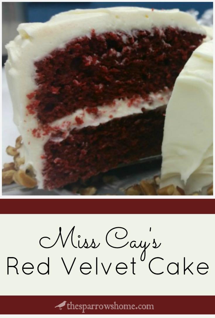 Miss Cay's Red Velvet Cake