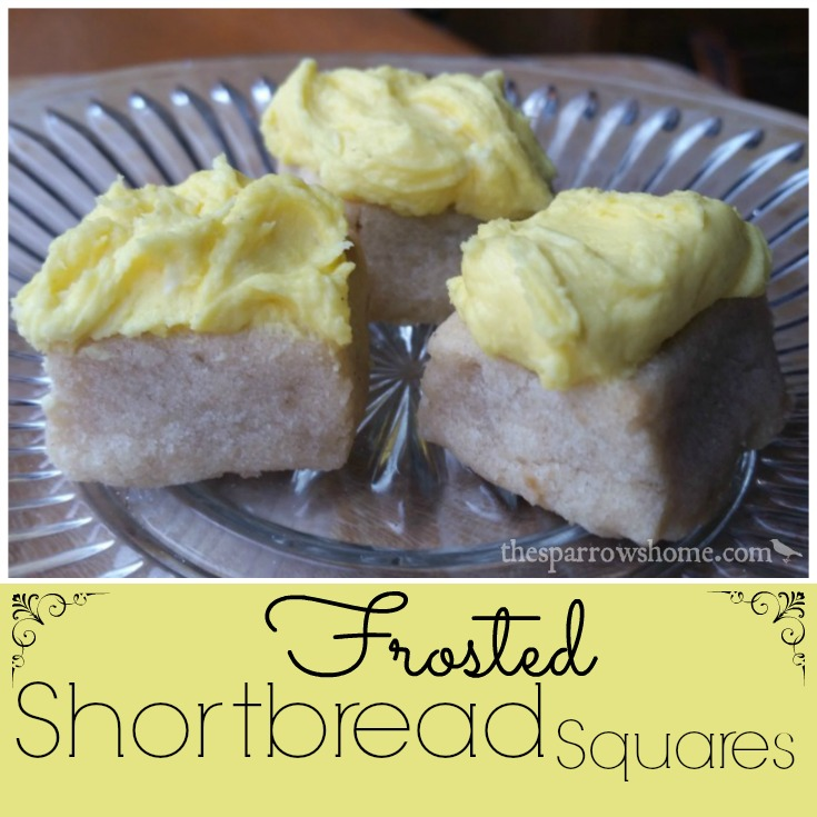 Melt in Your Mouth Frosted Shortbread Squares