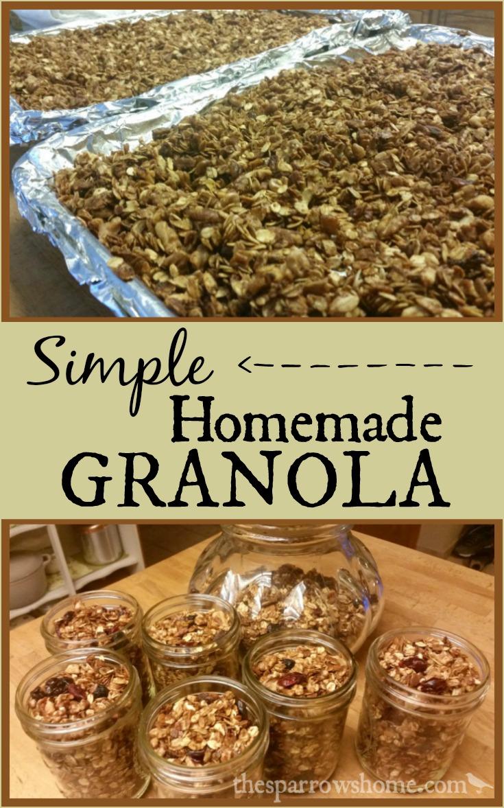 Simple Homemade Granola