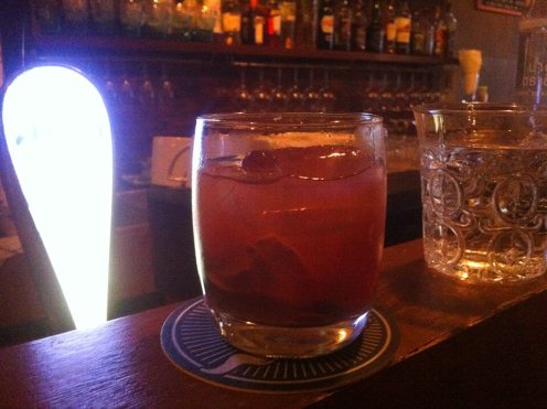 """The """"So-fashioned"""": the house old-fashioned with a tropical twist. This drink haunts my dreams..."""