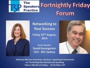 TSP Fortnightly Free Friday Forum David Baumgarten22nd Aug
