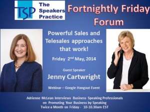 TSP-Fortnightly-Free-Friday-Forum-2nd-May-Jenny-Cartwright