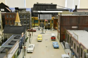 A model showing a steel town