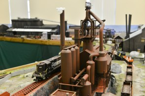 A model of a blast furnace and community