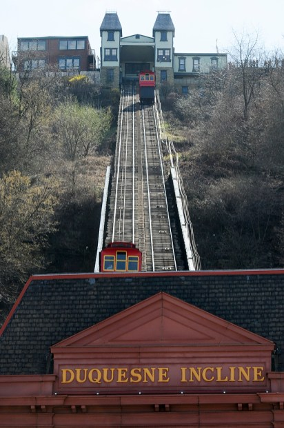 The Duquesne Incline up Mount Washington