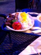 Chicken and beef kebab at AL Taib