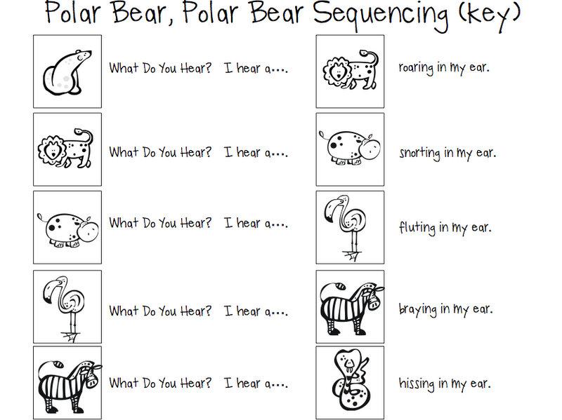 Bear Hear Bear Sequencing You What Do Polar Polar Cards
