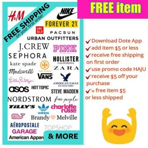 Dote Shopping App - FREE $5 Credit = FREE Product + FREE Shipping