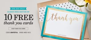 10 FREE Thank You Cards – Today ONLY ($20 Value)
