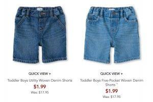 The Children's Place – Boy's Shorts $1.99 & Halloween Shirts $3.80