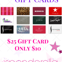 $15 off $25 Gift Cards – Run ONLY $10 for a $25 Gift Card!