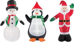 6 Foot Air Blow Up Inflatable Christmas Yard Decorations – Snowman, Santa, Penguin