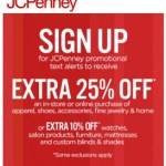 JCPenny's – 25% off Coupon + Sale Alerts
