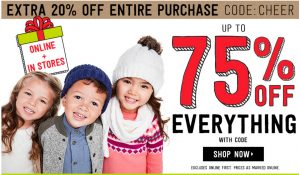 Crazy 8 – Cyber Monday Sale – Up to 75% Off + 20% Off Promo Code