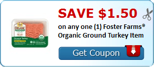 $1.50/1 Foster Farm Organic Ground Turkey Coupon