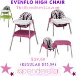 Evenflo Convertible High Chair $29.88 (Regular $53.58)