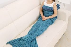 Kids Knitted Mermaid Blanket $4.99 (Regular $39.99)