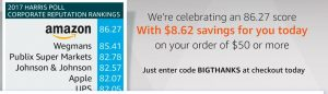 Amazon Promo Code – Today ONLY = $50 Starbucks Gift Card $41.37