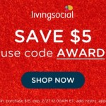LivingSocial – $5 off $15 Purchase Promo Code (Today ONLY)