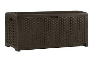 Suncast Mocha Wicker Resin Deck Box, 73-Gallon $68.95 (Regular $119.99)