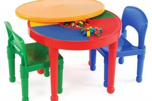 Tot Tutors Kids LEGO-Compatible Activity Table and 2 Chairs Set $33.57 (Regular $77.00)