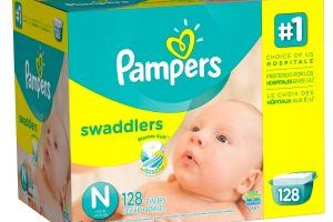 Pampers Swaddlers Newborn Diapers $14.39 (Regular $41.22)