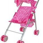 Pink & White Polka Dots Foldable Doll Stroller With Hood $16.99 + FREE Shipping