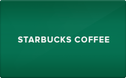 $10 Starbucks Gift Card for $4.65