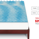 1.5″ Gel Memory Foam Mattress Topper $25.49 (Regular $99.99)