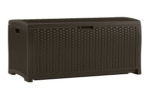 Suncast Mocha Wicker Resin Deck Box, 73-Gallon $67.99 Shipped (Regular $99.99)