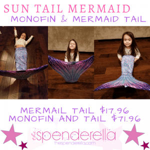 Sun Tail Mermaid - Monofin & Swimmable Mermaid Tail