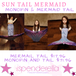 Sun Tail Mermaid – Monofin & Swimmable Mermaid Tail
