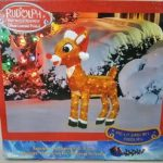 Pre-Lit 3D Rudolph with Santa Hat and Scarf Christmas Yard Decoration $19.99 (Regular $59.99)