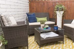 4 Piece Patio Chat Set $199.99 Shipped