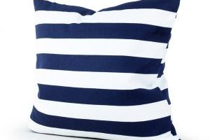 Navy Blue Stripe Decorative Throw Pillow Cover $2.70 Shipped!