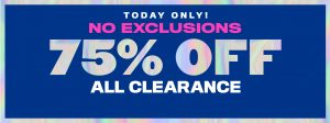 The Children's Place – 75% Off Clearance TODAY Only!