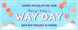 Way Day – Wayfair's Lowest Prices of the Year TODAY Only!