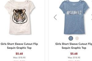 The Childrens Place up to 80 Percent off Clearance – Tees from $1.90