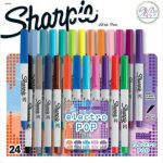 Sharpie 24 Count Electro Pop Ultra Fine Point Permanent Markers $10.00 (Regular $20)