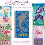 Personalized Fleece Beach Towel $23.98 Shipped
